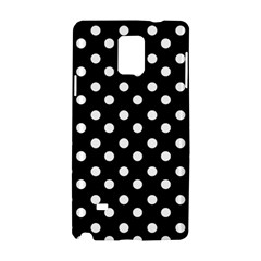 Black And White Polka Dots Samsung Galaxy Note 4 Hardshell Case