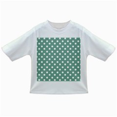 Mint Green Polka Dots Infant/Toddler T-Shirts