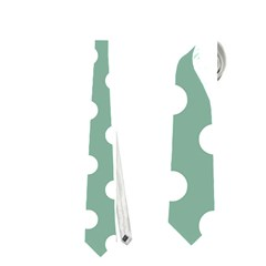 Mint Green Polka Dots Neckties (two Side)