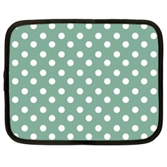 Mint Green Polka Dots Netbook Case (XXL)