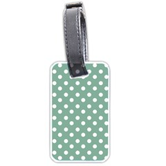Mint Green Polka Dots Luggage Tags (Two Sides)