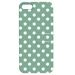 Mint Green Polka Dots Apple iPhone 5 Hardshell Case with Stand