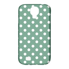 Mint Green Polka Dots Samsung Galaxy S4 Classic Hardshell Case (PC+Silicone)