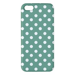 Mint Green Polka Dots iPhone 5S Premium Hardshell Case