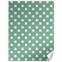 Mint Green Polka Dots Canvas 36  x 48