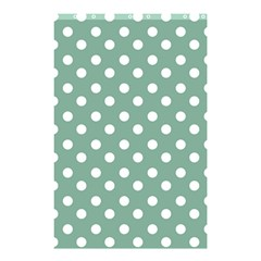Mint Green Polka Dots Shower Curtain 48  X 72  (small)