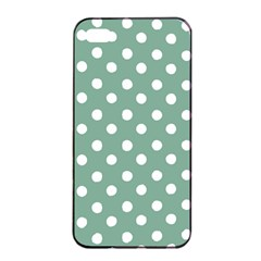 Mint Green Polka Dots Apple iPhone 4/4s Seamless Case (Black)