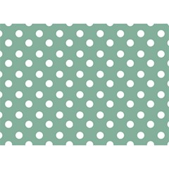 Mint Green Polka Dots Birthday Cake 3d Greeting Card (7x5)