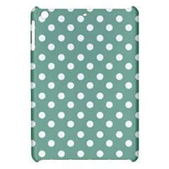 Mint Green Polka Dots Apple iPad Mini Hardshell Case