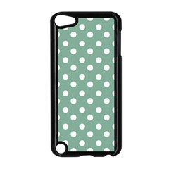 Mint Green Polka Dots Apple iPod Touch 5 Case (Black)