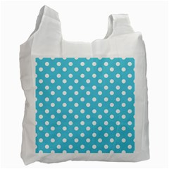 Sky Blue Polka Dots Recycle Bag (One Side)