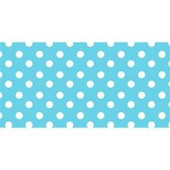 Sky Blue Polka Dots You Are Invited 3d Greeting Card (8x4)