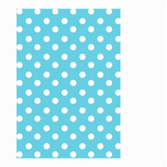 Sky Blue Polka Dots Small Garden Flag (two Sides)
