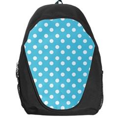 Sky Blue Polka Dots Backpack Bag