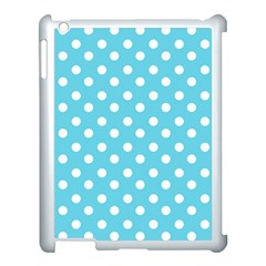 Sky Blue Polka Dots Apple iPad 3/4 Case (White)