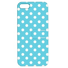 Sky Blue Polka Dots Apple iPhone 5 Hardshell Case with Stand