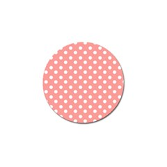 Coral And White Polka Dots Golf Ball Marker (10 pack)
