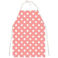 Coral And White Polka Dots Full Print Aprons