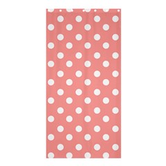 Coral And White Polka Dots Shower Curtain 36  x 72  (Stall)