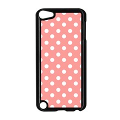 Coral And White Polka Dots Apple iPod Touch 5 Case (Black)