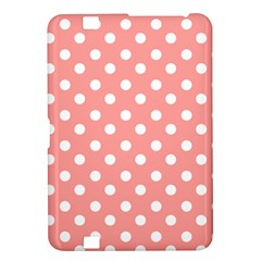 Coral And White Polka Dots Kindle Fire HD 8.9