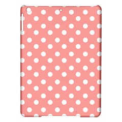 Coral And White Polka Dots iPad Air Hardshell Cases