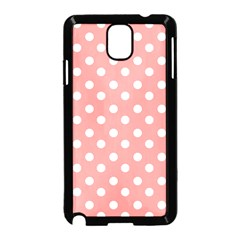 Coral And White Polka Dots Samsung Galaxy Note 3 Neo Hardshell Case (black)