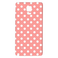 Coral And White Polka Dots Galaxy Note 4 Back Case