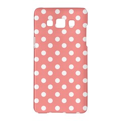 Coral And White Polka Dots Samsung Galaxy A5 Hardshell Case