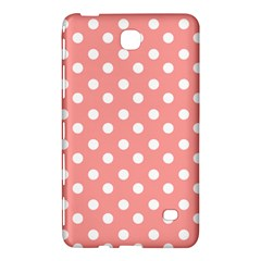 Coral And White Polka Dots Samsung Galaxy Tab 4 (7 ) Hardshell Case