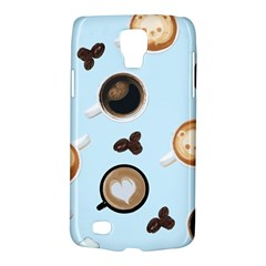Cute Coffee Pattern on Light Blue Background Galaxy S4 Active