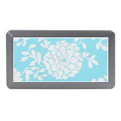 Aqua Blue Floral Pattern Memory Card Reader (Mini)