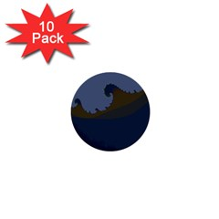 Ocean Waves 1  Mini Buttons (10 pack)