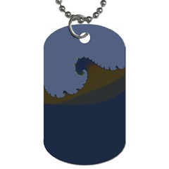 Ocean Waves Dog Tag (Two Sides)
