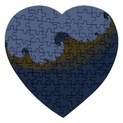 Ocean Waves Jigsaw Puzzle (heart)
