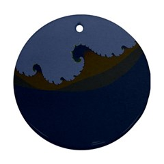 Ocean Waves Round Ornament (Two Sides)