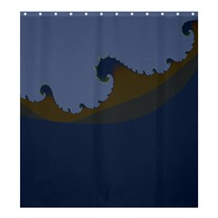 Ocean Waves Shower Curtain 66  x 72  (Large)