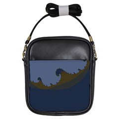 Ocean Waves Girls Sling Bags