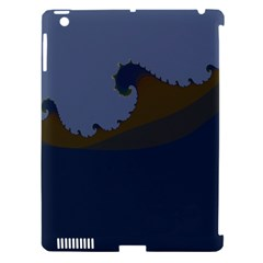 Ocean Waves Apple iPad 3/4 Hardshell Case (Compatible with Smart Cover)