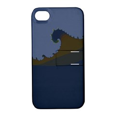Ocean Waves Apple iPhone 4/4S Hardshell Case with Stand