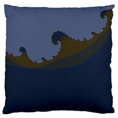 Ocean Waves Large Flano Cushion Cases (one Side)