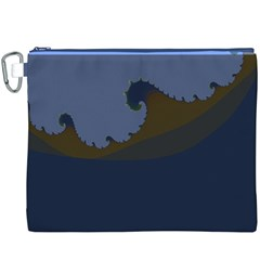 Ocean Waves Canvas Cosmetic Bag (XXXL)