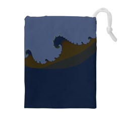 Ocean Waves Drawstring Pouches (Extra Large)