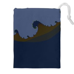 Ocean Waves Drawstring Pouches (XXL)
