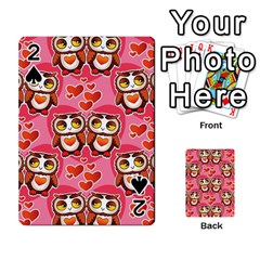 Cute Owls In Love Playing Cards 54 Designs