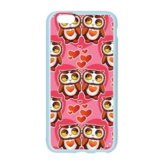Cute Owls in Love Apple Seamless iPhone 6/6S Case (Color)