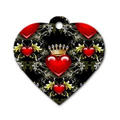 King Of Hearts Dog Tag Heart (two Sides)