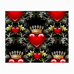 King Of Hearts Small Glasses Cloth (2 Side)