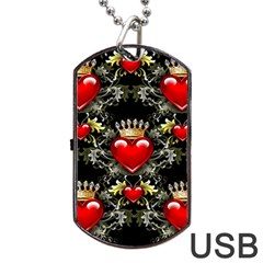 King Of Hearts Dog Tag Usb Flash (one Side)