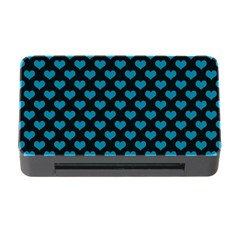Blue Hearts Valentine s Day Pattern Memory Card Reader with CF